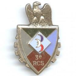 3° RCS, blason en relief,...