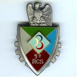 3° RCS, blason relief,...