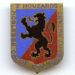 2° Rgt de Hussards, écu taillé