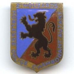 2° Rgt de Hussards, taillé,...