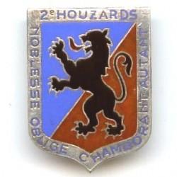 2° Rgt de Hussards, écu...