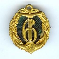 6° RTS, ancre et 6, fond vert