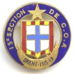 15° Section de COA, Orient...