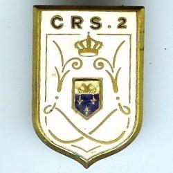 CRS 2, blason en relief,...