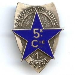 93° RI / 1° Bataillon / 5°...