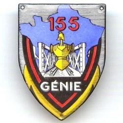 155° Rgt du Génie , émail...